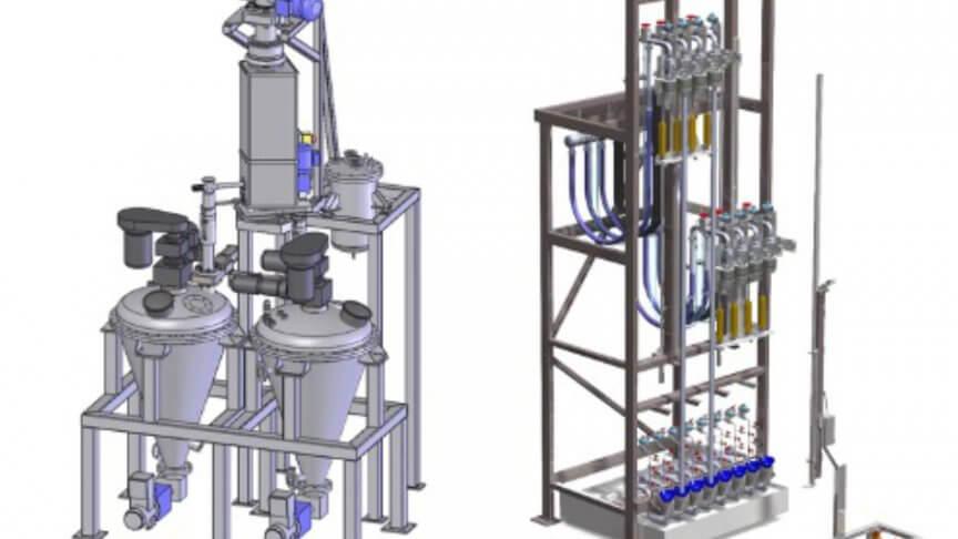 Bundeldroger membraanfilterproductie